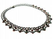 Vittoria Necklace Netting Beadwork Pattern - Intermediate